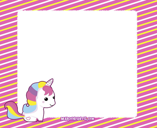 Imagenes De Unicornios Infantiles: Marcos Con Unicornios